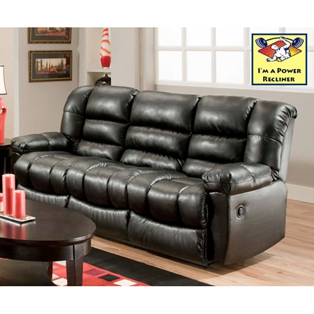 Orleans power reclining sofa new era black dcg stores for Sectional sofas new orleans