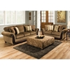 Fairfax Sleigh Arm Sofa - Cornell Chestnut Fabric - CHF-185653-1662
