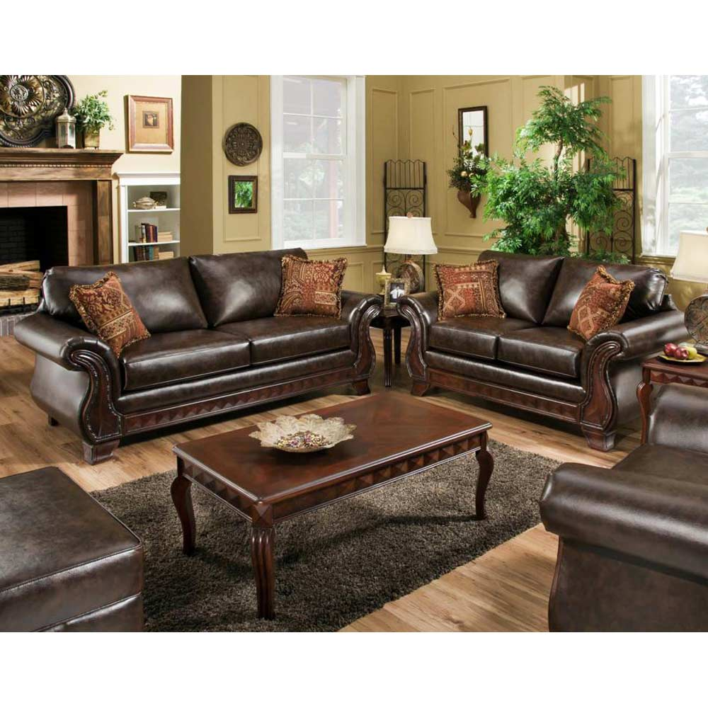 Jefferson Loveseat Bracket Feet New Era Walnut Upholstery Dcg Stores