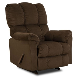 Michigan Tufted Recliner - Top Hat Chocolate Fabric