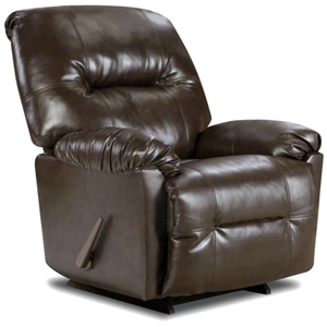 Gennessee Reclining Chair - Bentley Brown Upholstery