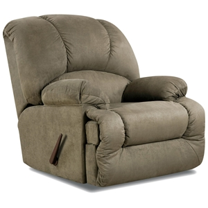 Virginia Fabric Recliner - Pillow Top Arms, Glacier Olive