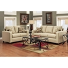 Talbot Contemporary Loveseat - Vivid Beige Fabric - CHF-193602-VB