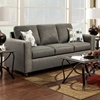 Talbot Contemporary Sofa - Vivid Onyx Fabric - CHF-193603-VO