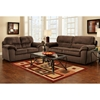 Baltimore Padded Loveseat - Cumulus Beluga Fabric - CHF-194802-CB