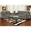 Baltimore Padded Loveseat - Cumulus Charcoal Fabric - CHF-194802-CC