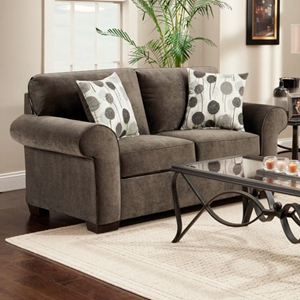 Worcester Transitional Fabric Loveseat - Elizabeth Ash