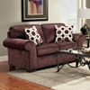 Worcester Transitional Fabric Loveseat - Prism Elderberry - CHF-195302-PE