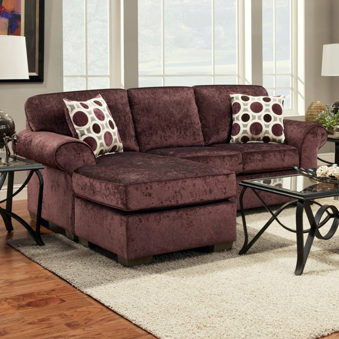 Worcester Transitional Fabric Sofa Chaise - Prism Elderberry - CHF-195303-PE
