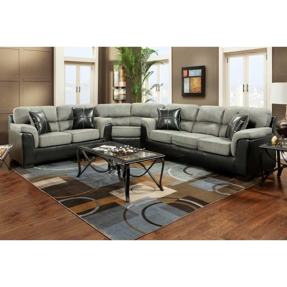 Laredo Sofa And Loveseat: Lancaster 3-Piece Sectional Sofa - Laredo Graphite