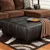 Bradford Square Party Ottoman - Dark Brown Upholstery - CHF-196355-CB