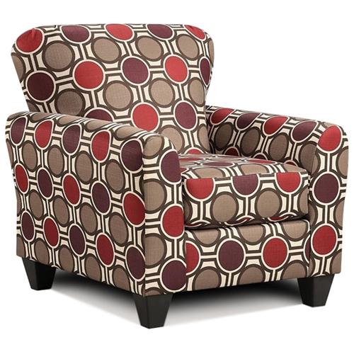 Lehigh Pattern Fabric Accent Chair Compass Claret Dcg
