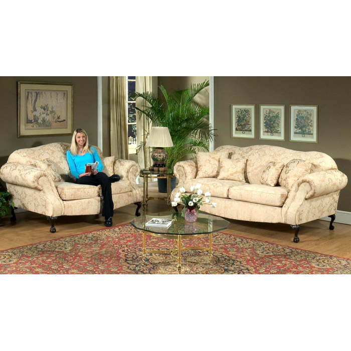 Queen Elizabeth 3 Piece Print Fabric Sofa Set Dcg Stores