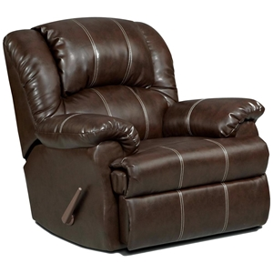Ambrose Rocker Reclining Chair - Brandon Brown Leather