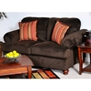 Cherry Loveseat - Bun Feet, Viva Chocolate Fabric - CHF-2010-L-VC