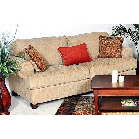 Palm Sofa Bun Feet Christo Tan Fabric Dcg Stores