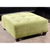 Fiona Tufted Suede Ottoman - Montego Apple - CHF-20355-O