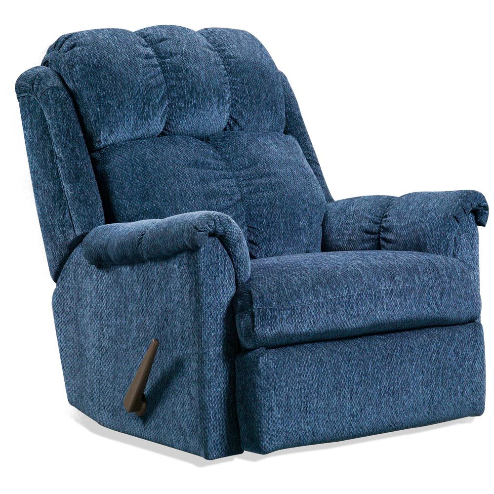 Tufted Rocker Recliner Chair Tahoe Blue Fabric Dcg Stores