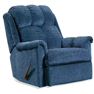 Tufted Rocker Recliner Chair - Tahoe Blue Fabric