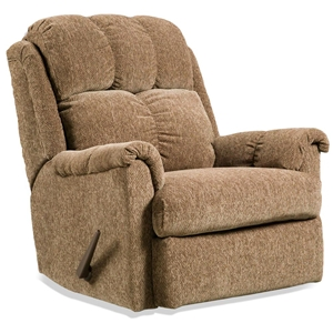 Tufted Rocker Recliner Chair - Tahoe Brown Fabric