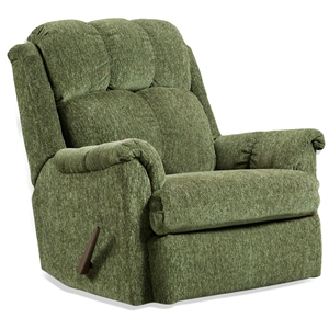 Tufted Rocker Recliner Chair- Tahoe Green Fabric