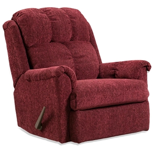 Tufted Rocker Recliner Chair - Tahoe Wine Fabric