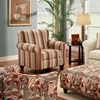 Essex Striped Fabric Accent Chair - CHF-FS912-C