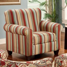 Essex Striped Fabric Accent Chair