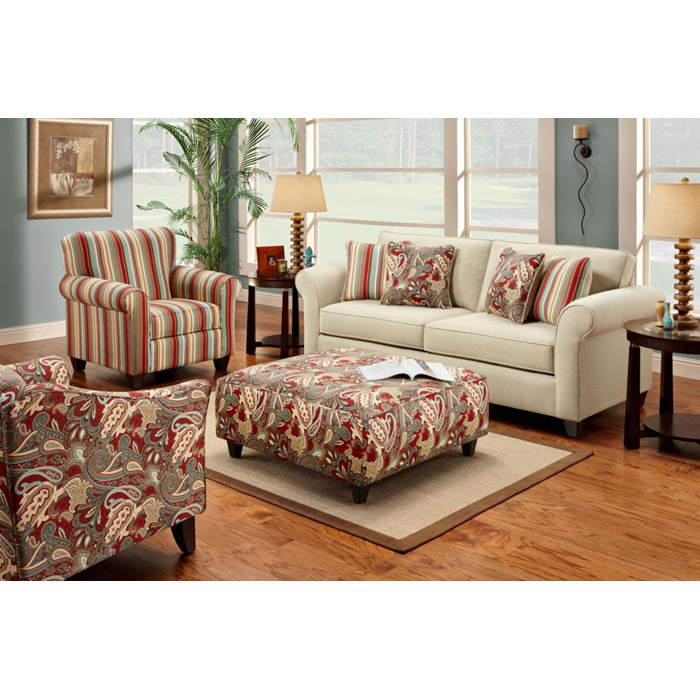 Essex Upholstered Sofa with Accent Pillows - CHF-FS2200-S