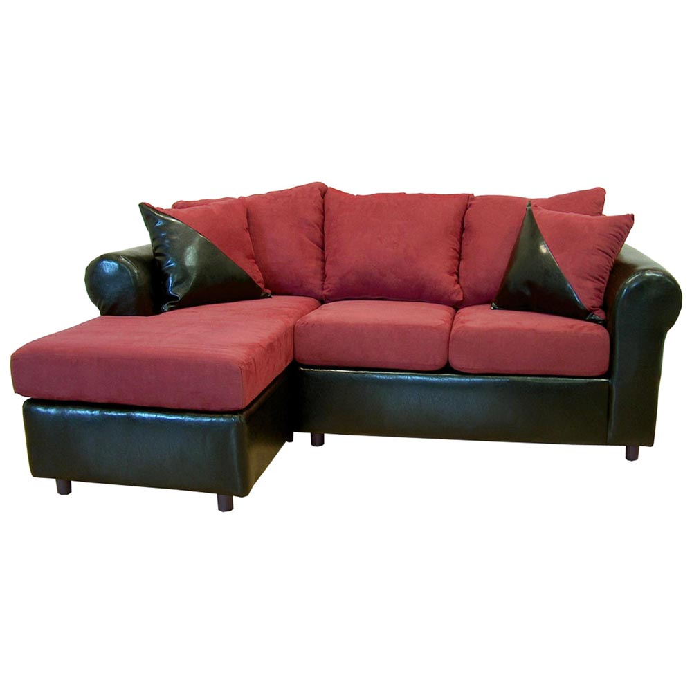 Tim chaise sofa sectional rolled arm bulldozer for Burgundy chaise