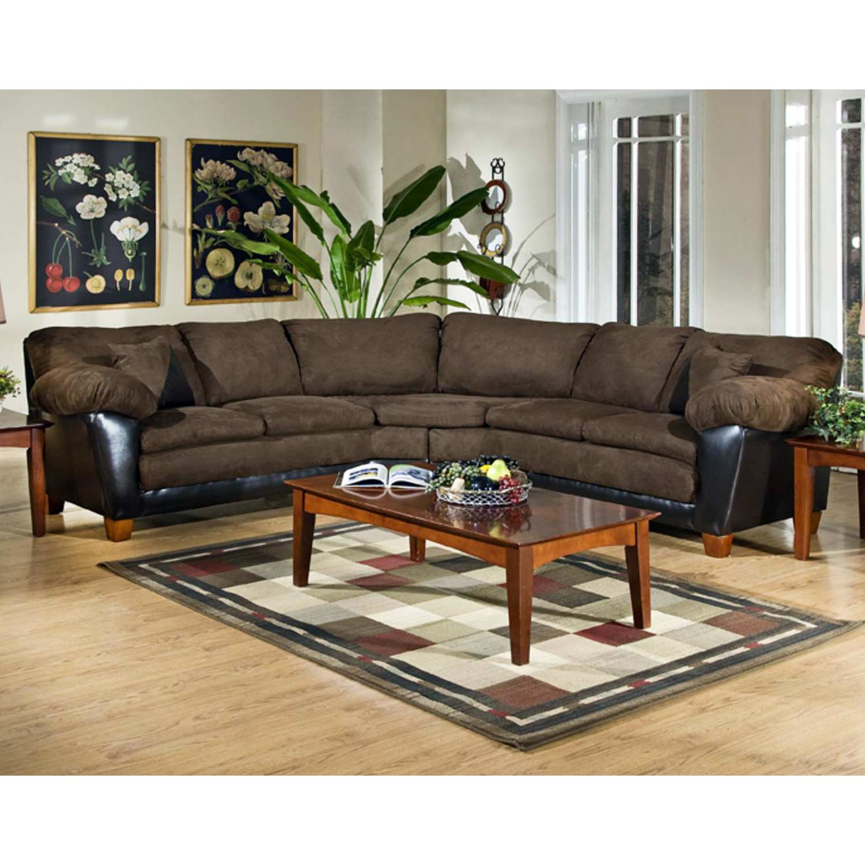 James 2 Piece Sectional Sofa Bulldozer Java Cushions Dcg Stores