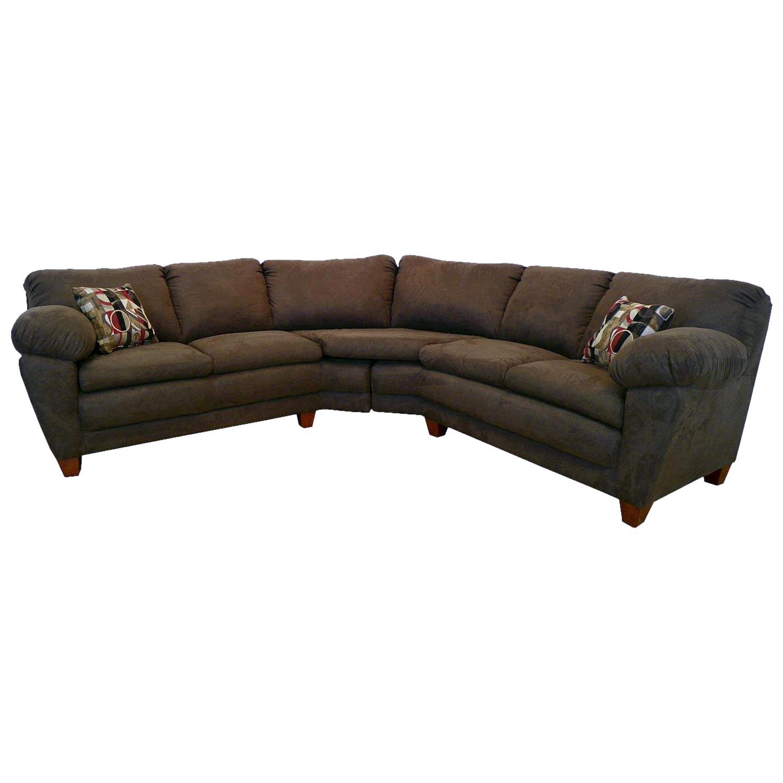 Amanda 2 Piece Sectional Sofa Bulldozer Java Upholstery Dcg Stores