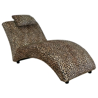 Blaine Fabric Chaise Lounge - Leopard Pattern