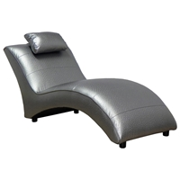 Blaine Chaise Lounge - Ostrich Silver Upholstery
