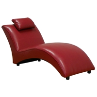 Blaine Chaise Lounge - San Marino Red Upholstery