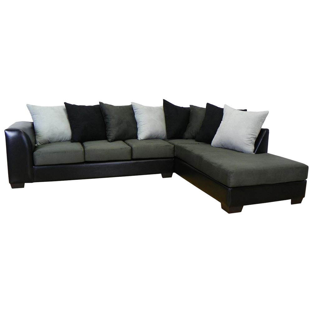 Christine Sofa Chaise Sectional Bulldozer Graphite Dcg Stores