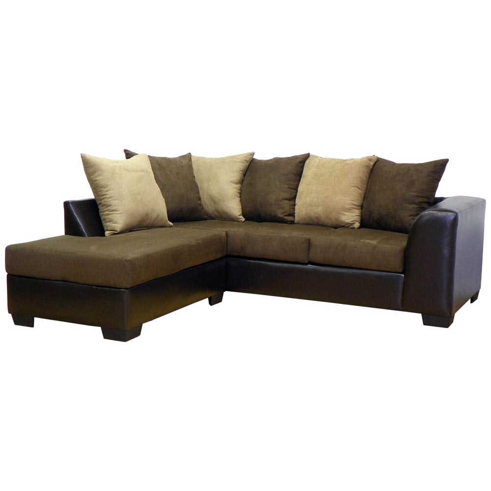 Patty Sofa & Chaise Sectional Bulldozer Java
