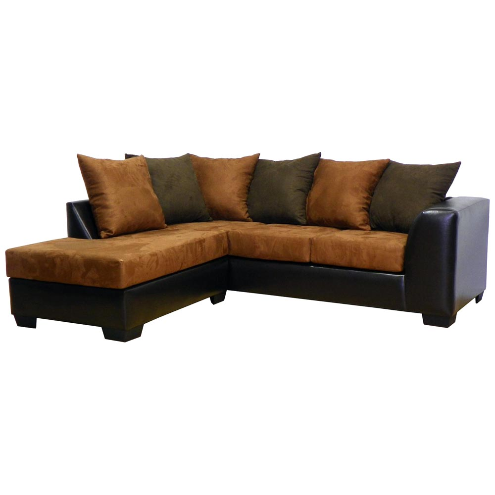 Patty Sofa Chaise Sectional Mission Cinnamon Dcg Stores