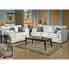 Maple Upholstered Loveseat - Toss Pillows, San Marino Ivory - CHF-237500-L-SI