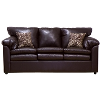 Maple Upholstered Sleeper Sofa - Toss Pillows, San Marino Brown