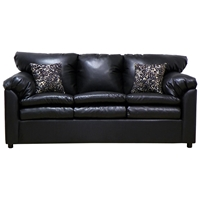 Maple Upholstered Sleeper Sofa - Toss Pillows, San Marino Black