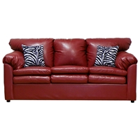Maple Upholstered Sleeper Sofa - Toss Pillows, San Marino Red