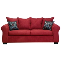 Sheba Padded Sleeper Sofa - Bulldozer Burgundy Upholstery