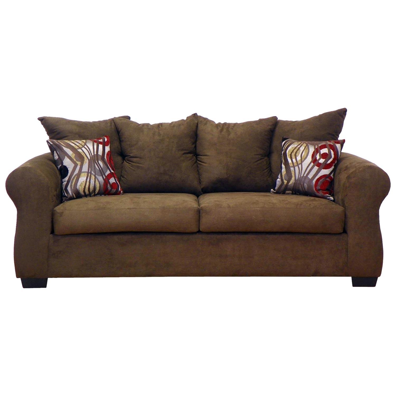 Sheba Padded Sleeper Sofa Bulldozer Java Upholstery Dcg Stores