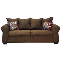Sheba Padded Sleeper Sofa - Bulldozer Java Upholstery