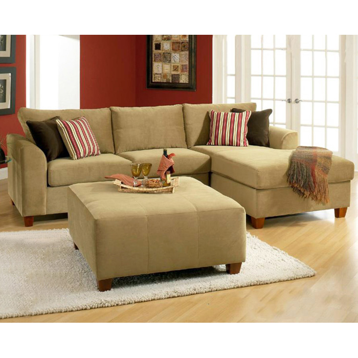 Jefferson Square Upholstered Ottoman - Bella Coffee Fabric - CHF-254100-O