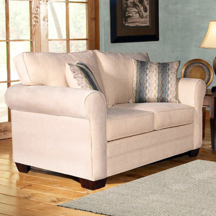 Vicki Rolled Arm Upholstered Loveseat - Sagittarius Pearl - CHF-255500-20