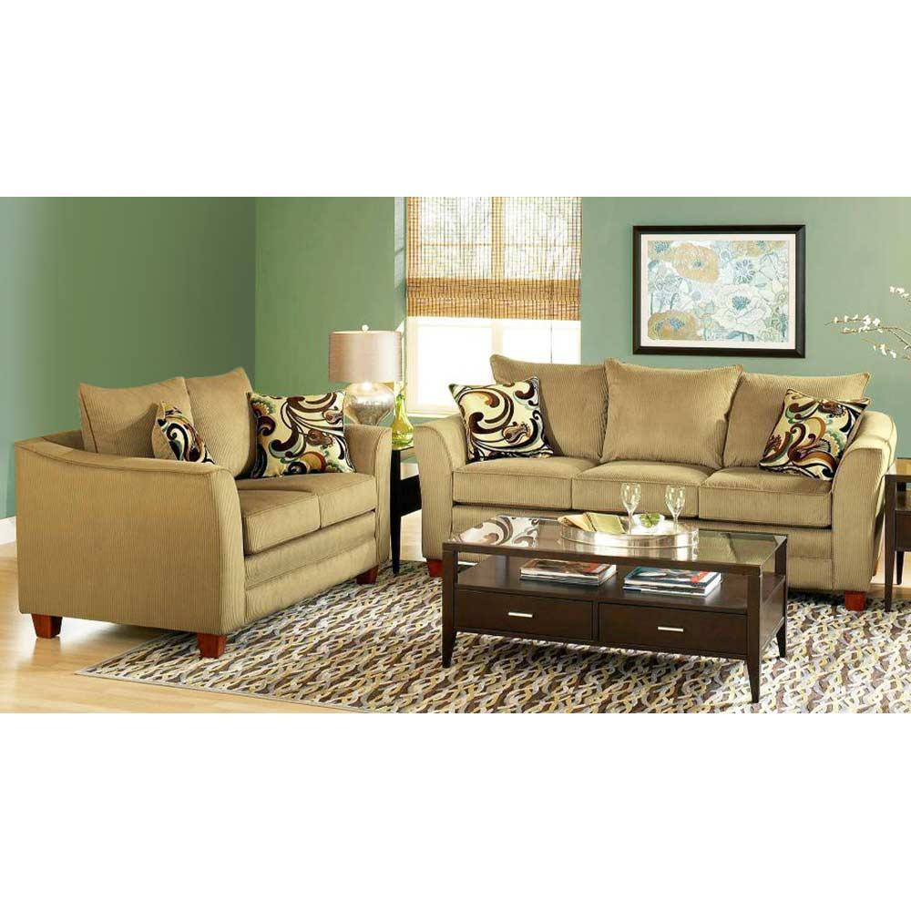 Mckenzie pillow back sofa viva chestnut fabric dcg stores for Stratford home pillows living room furniture