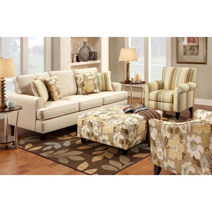 Hudson floral fabric lounge chair dcg stores Floral living room furniture sets