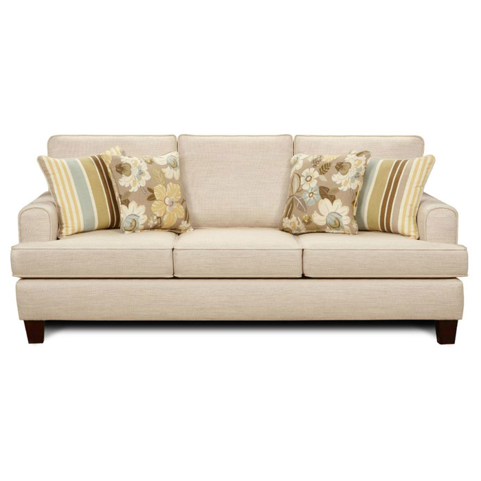 Hudson contemporary sofa in marlboro ivory fabric dcg stores for Sofa hudson